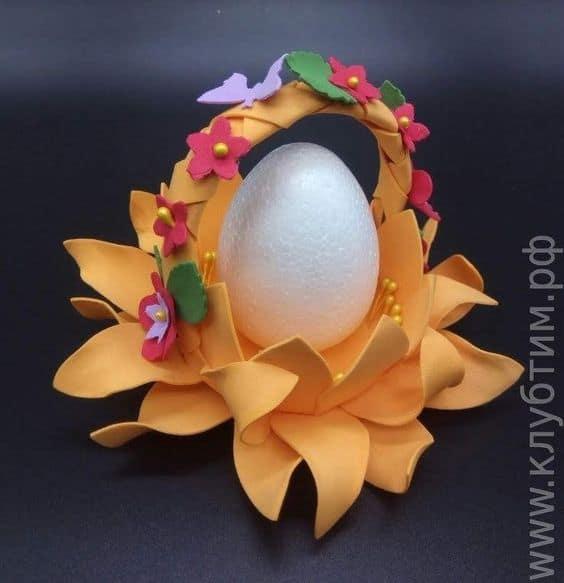 decoração de páscoa em EVA