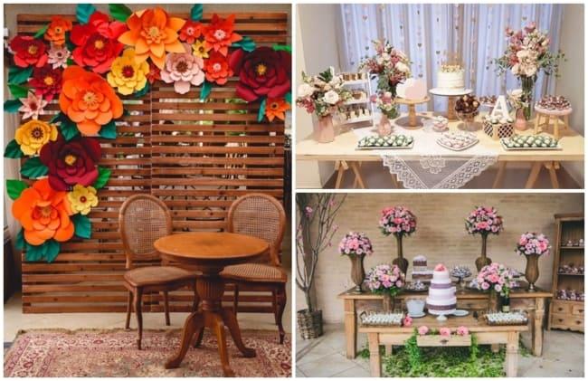 decoração de recepção de casamento simples