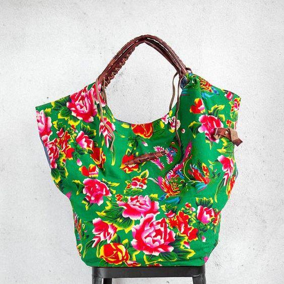 bolsa feminina de chita