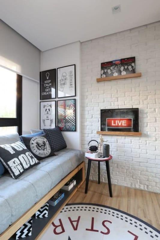 quarto jovem com decoração masculina