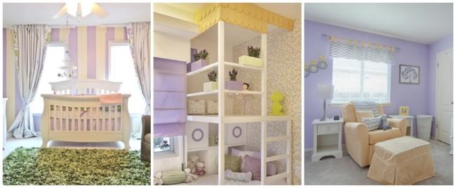 decoração em lilás e amarelo