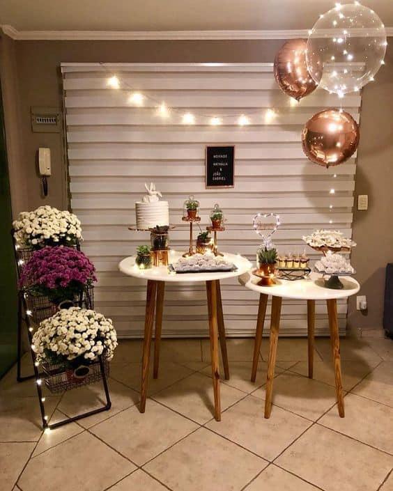 festa de casamento simples e em casa