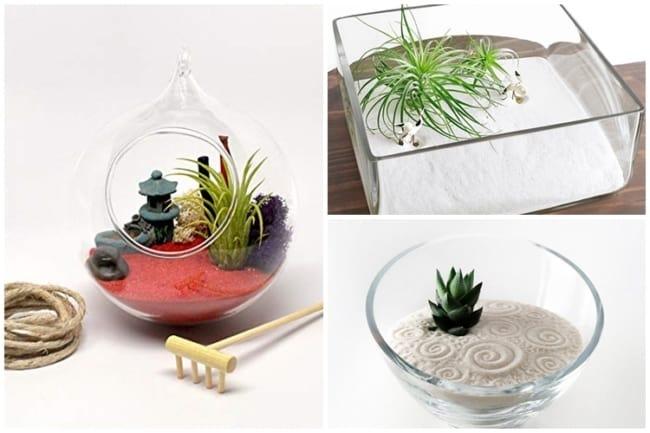 jardim zen de vidro