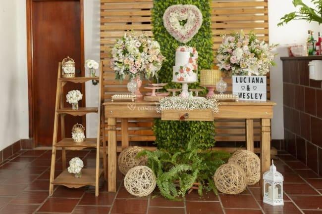 decoração simples para casamento em casa