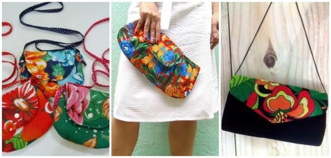ideias para fazer bolsa de chita