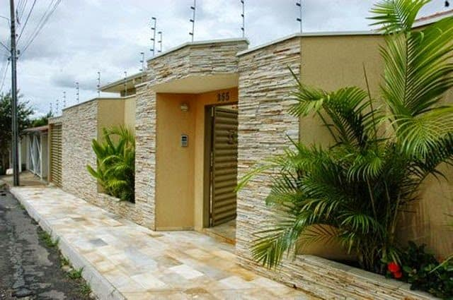 muro com pedras decorativas