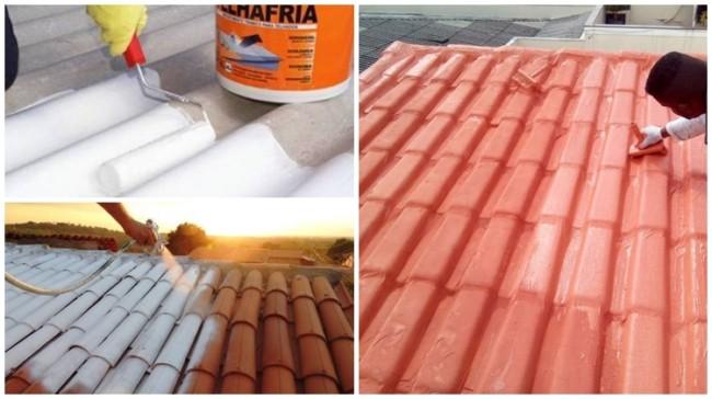 telhado com manta líquida
