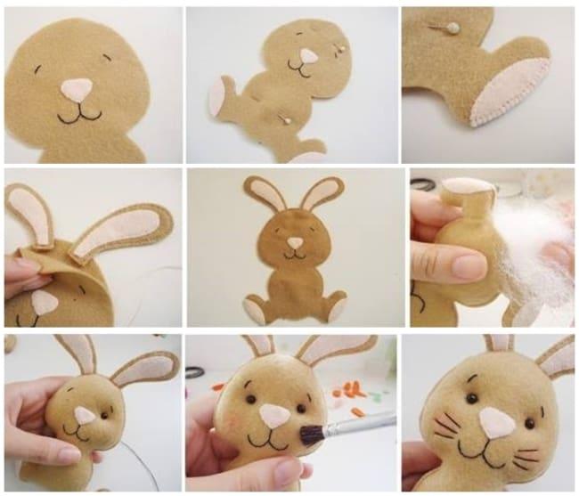 como fazer coelho de feltro