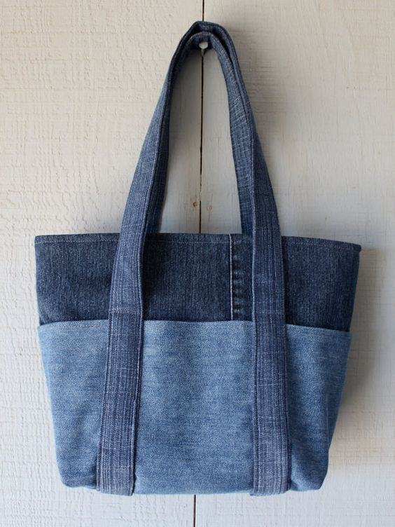 bolsa sacola jeans