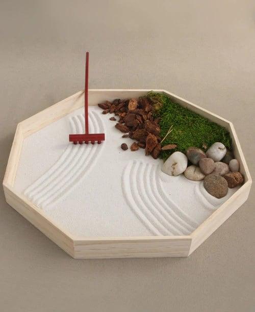 jardim zen com pedras