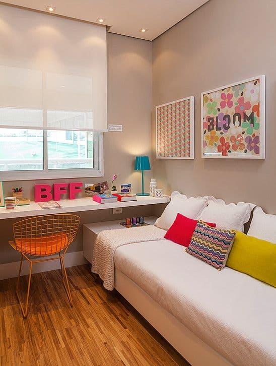 decoração colorida para quarto de menina