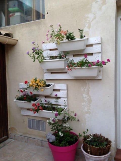 floreira vertical de palete