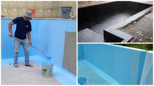 impermeabilização de piscina com manta líquida