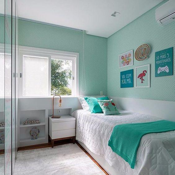quarto feminino verde