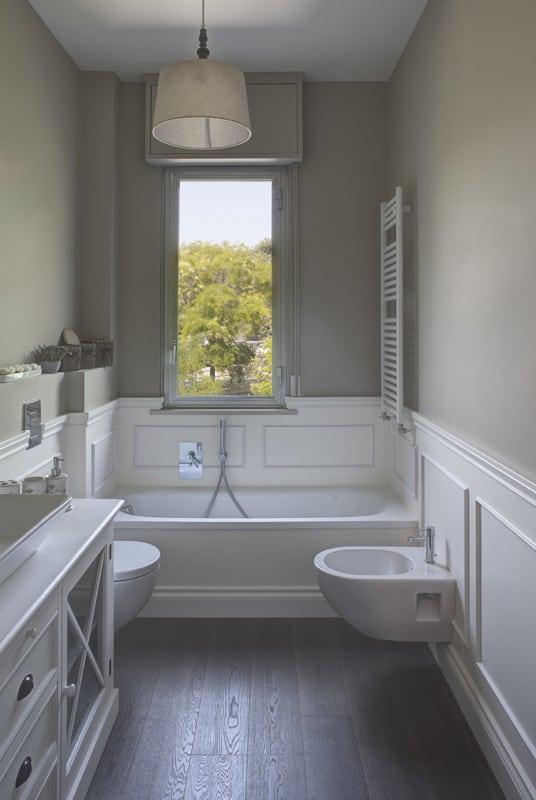 Boiserie para banheiro pequeno