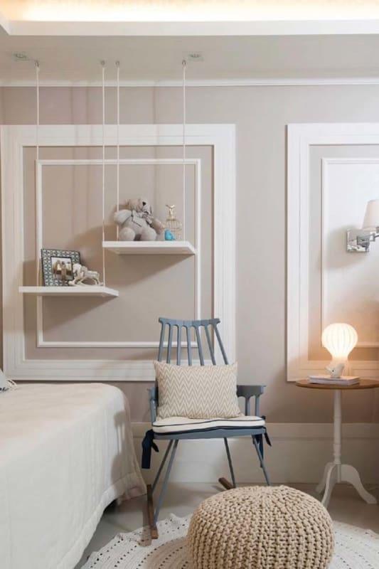 Boiserie para quarto de bebê planejado