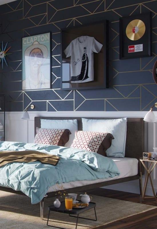 Boiserie para quarto de casal moderno