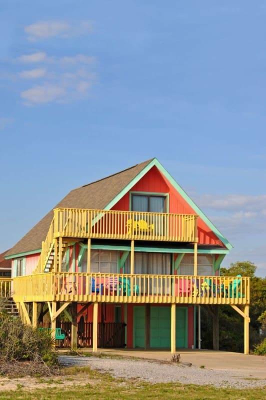 Casa de Praia colorida
