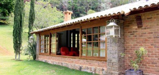 Casas de tijolo à vista rústicas