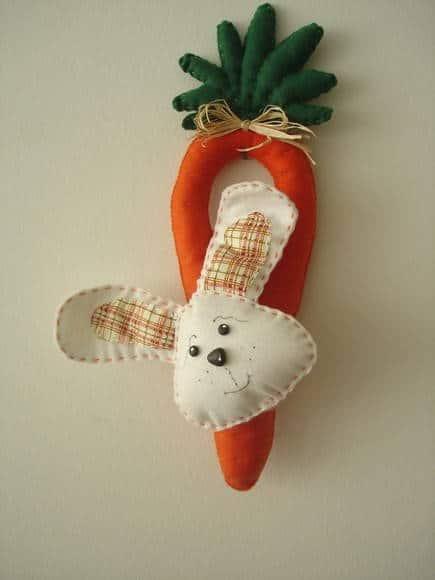 Cenourinha e coelho para por na porta