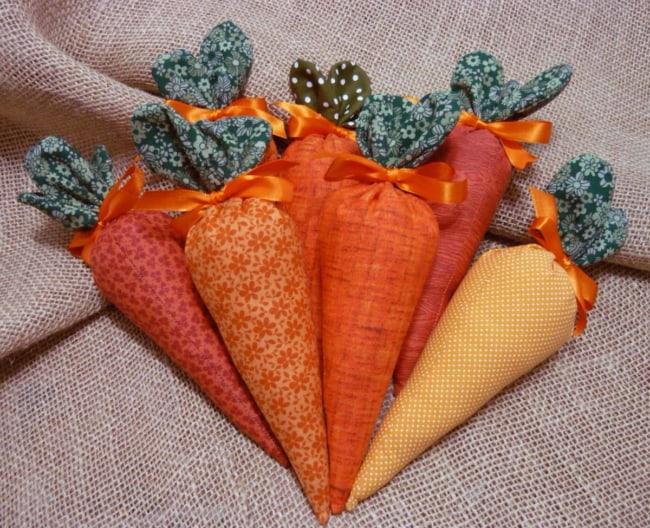 Cenourinhas de tecido para Páscoa