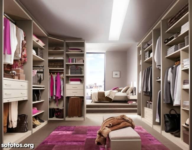 Closet planejado no quarto de casal