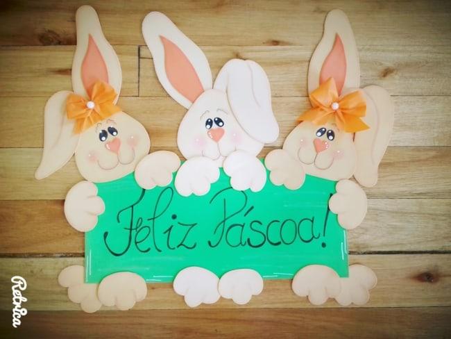 Coelhinho para decoração de páscoa para escola30