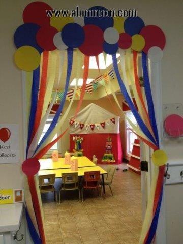Cortina de papel crepom decoração de Carnaval47