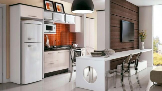 Cozinha simples americana planejada