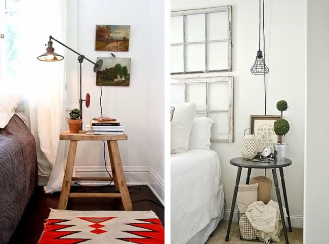 Criados mudos simples para quartos