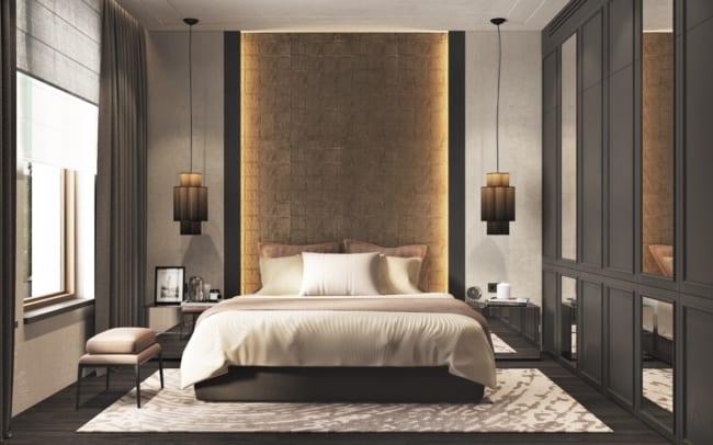 Decor dourado para quarto de casal
