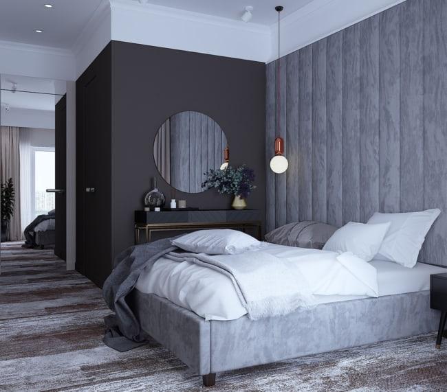 Decoração cinza para quarto masculino