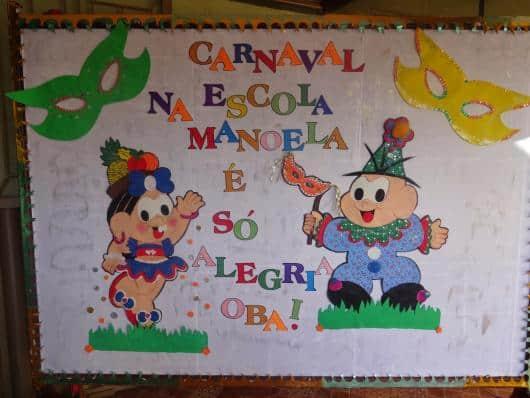 Decoração de Carnaval para escola com painel personalizado26