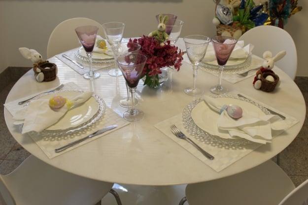 Decoração simples para almoço de páscoa