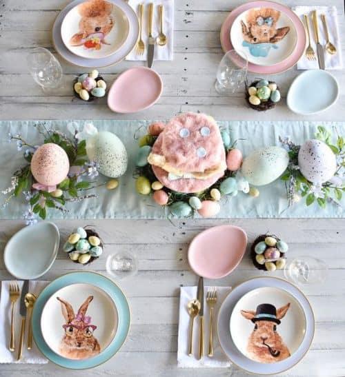 Dica de decoração da mesa de páscoa