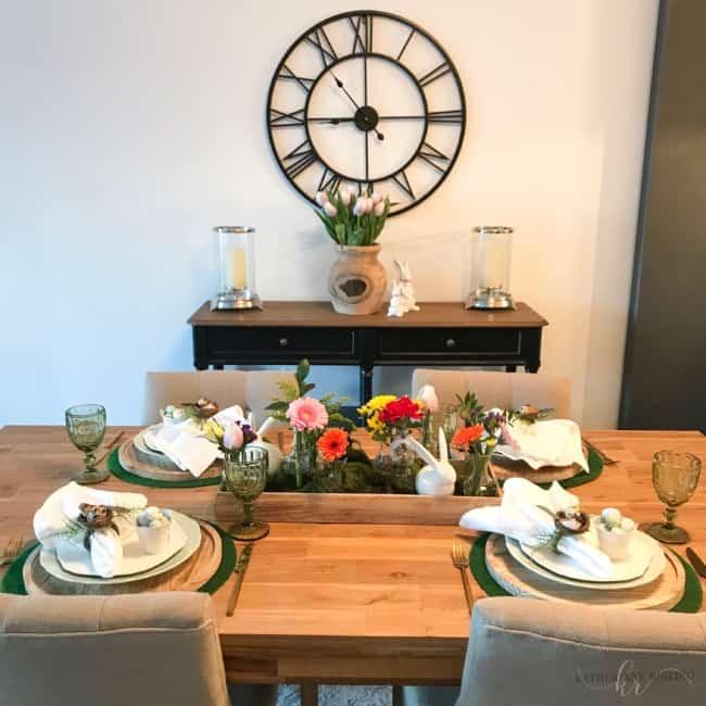 Dica de mesa decorada para páscoa