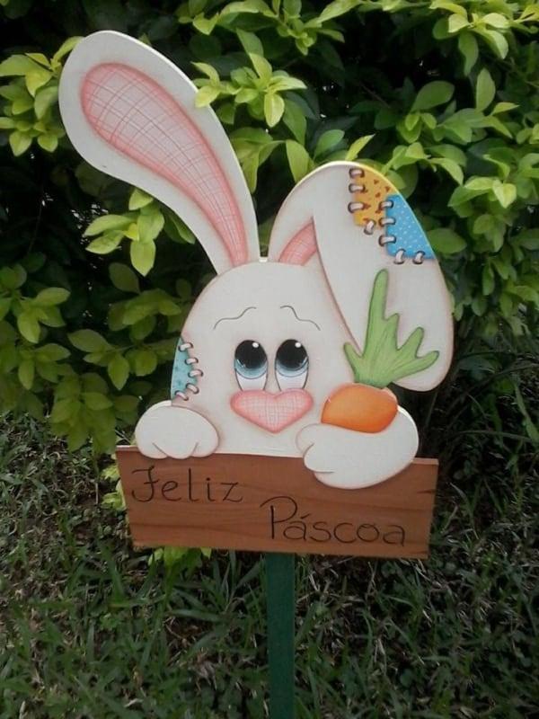 Enfeite de Páscoa para o jardim