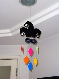 Enfeite de teto para decoração de Carnaval