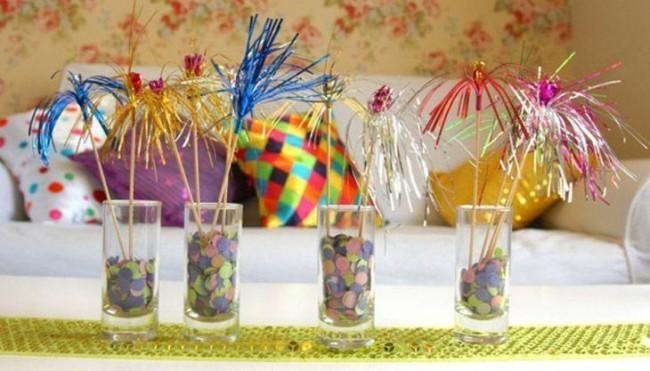 Enfeites com vidro para decoração de Carnaval simples 13