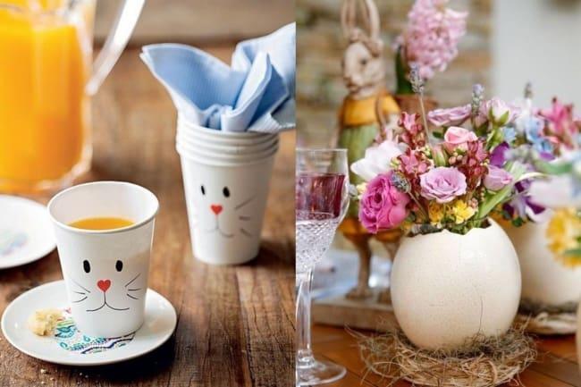 Enfeites de Páscoa fáceis de fazer para decorar a mesa