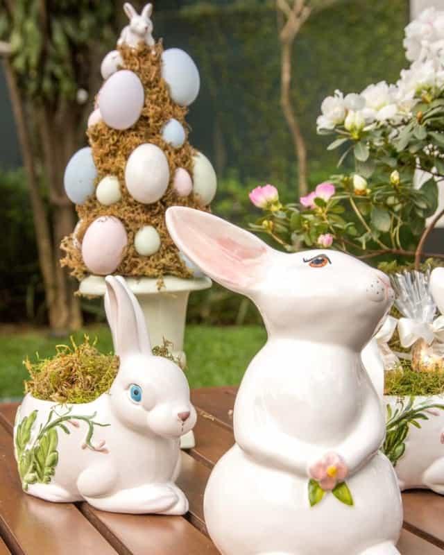 Enfeites lindos de páscoa de porcelana