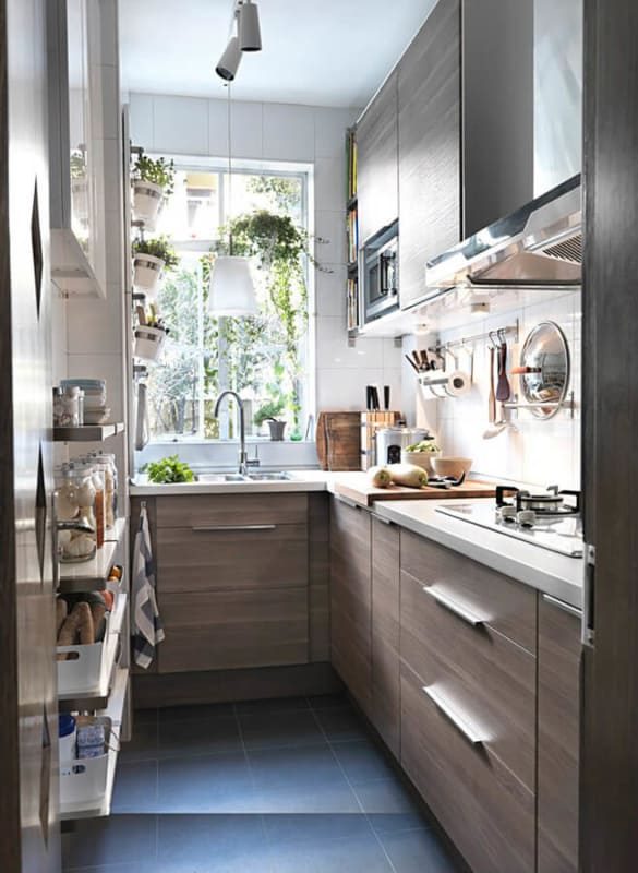 Fogão de Embutir em cozinha de apartamento
