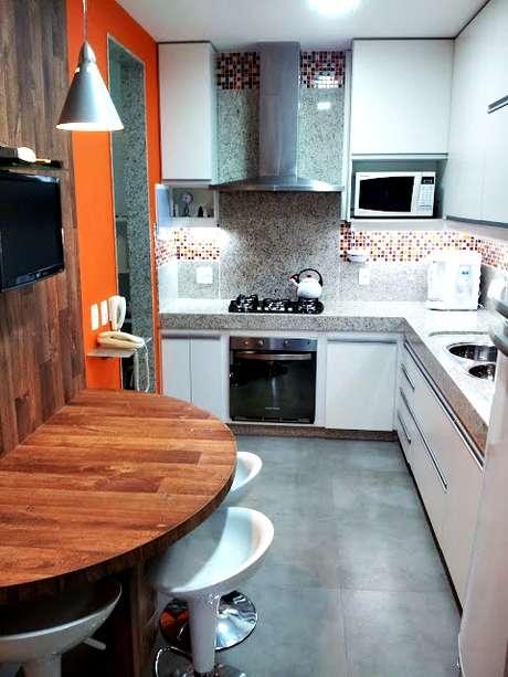 Fogão de Embutir estilo cooktop na cozinha