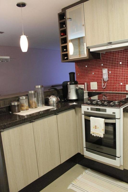Fogão de Embutir na cozinha simples