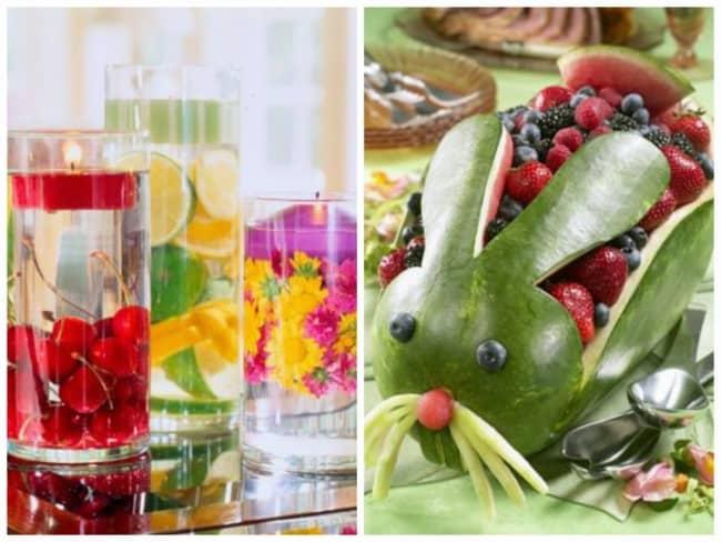 Frutas para decorar a mesa de páscoa