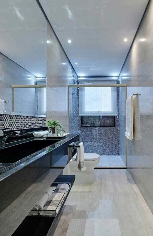 Granito Verde Ubatuba em banheiro