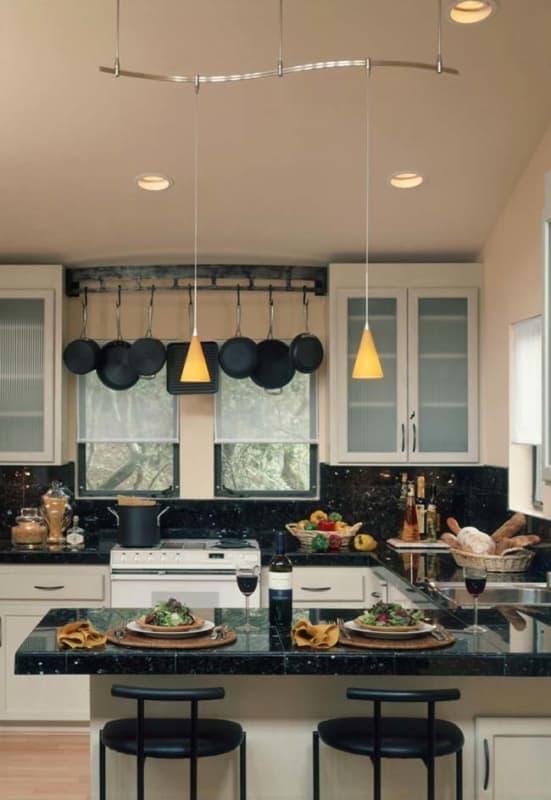Granito Verde Ubatuba em cozinha