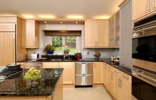 Granito Verde Ubatuba na cozinha rustica