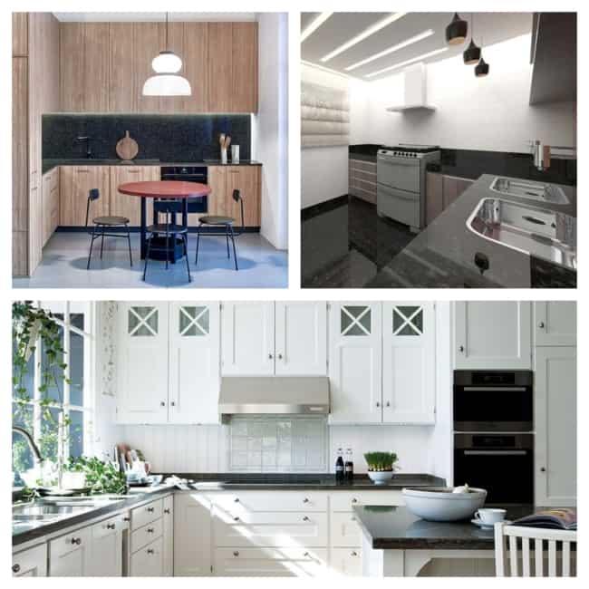 Granito verde ubatuba na cozinha