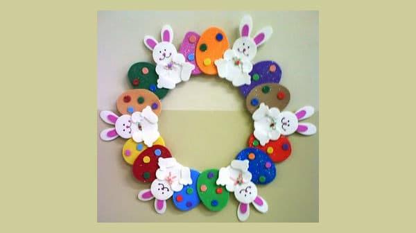Guirlanda de Páscoa para decoração de escola27